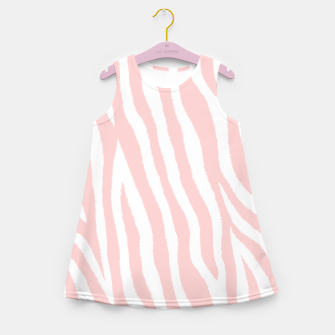 Miniatur Pale pink zebra fur pattern 04 Girl's summer dress, Live Heroes