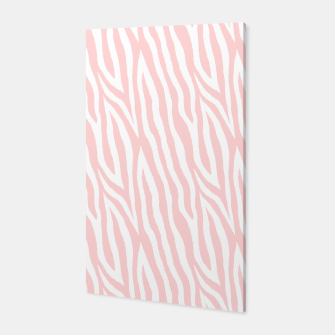 Thumbnail image of Pale pink zebra fur pattern 04 Canvas, Live Heroes