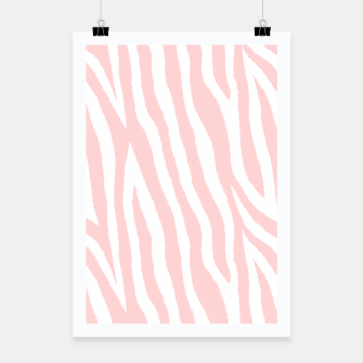 Thumbnail image of Pale pink zebra fur pattern 04 Poster, Live Heroes