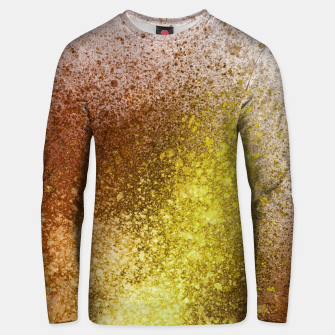 Thumbnail image of Yellow Amber Spray Paint Art Unisex sweater, Live Heroes