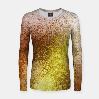 Thumbnail image of Yellow Amber Spray Paint Art Women sweater, Live Heroes