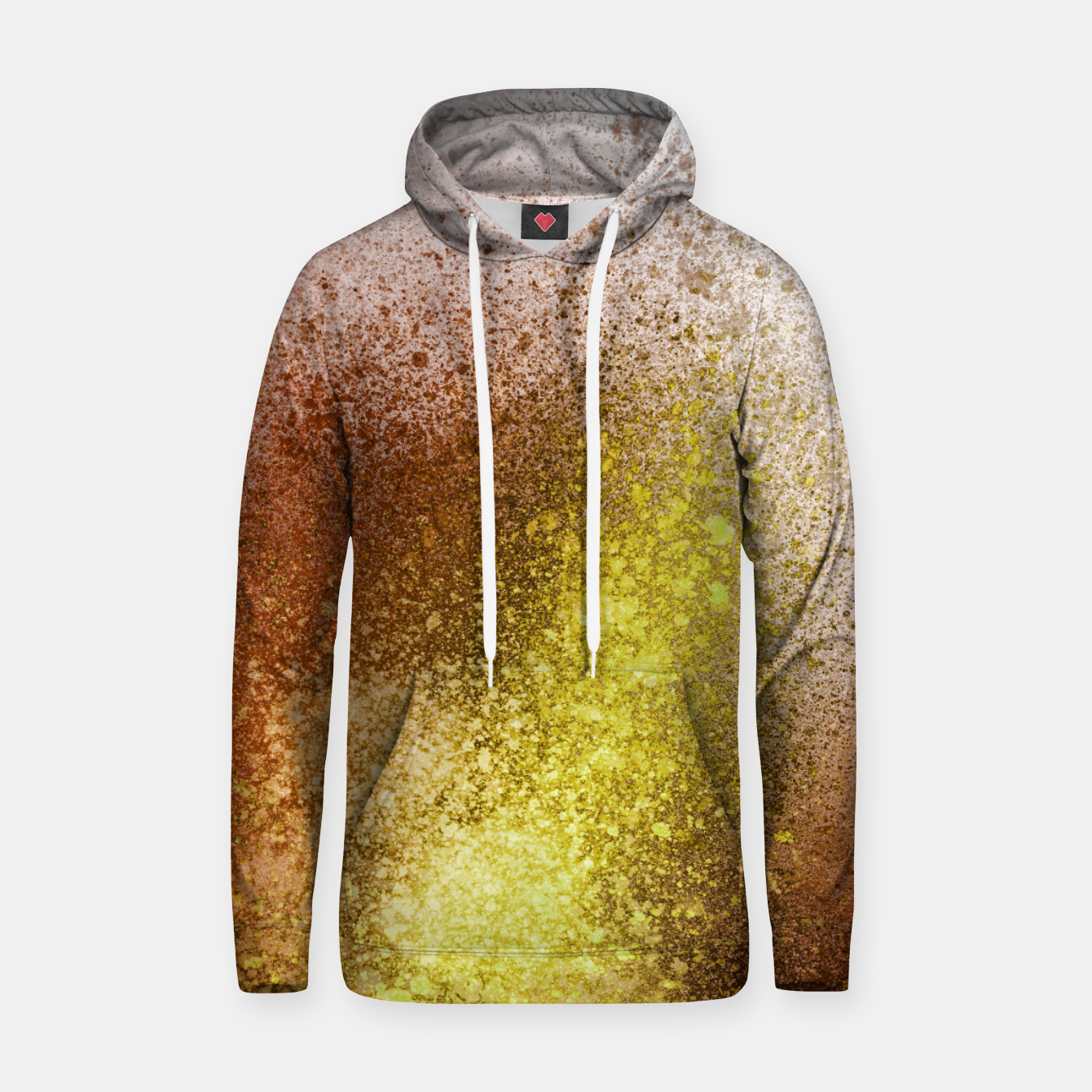 Image of Yellow Amber Spray Paint Art Hoodie - Live Heroes