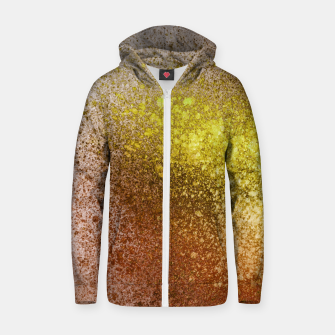 Thumbnail image of Yellow Amber Spray Paint Art Zip up hoodie, Live Heroes