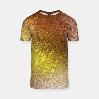 Thumbnail image of Yellow Amber Spray Paint Art T-shirt, Live Heroes