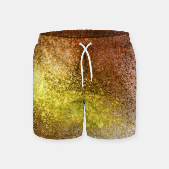 Thumbnail image of Yellow Amber Spray Paint Art Swim Shorts, Live Heroes
