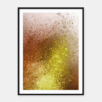 Thumbnail image of Yellow Amber Spray Paint Art Framed poster, Live Heroes