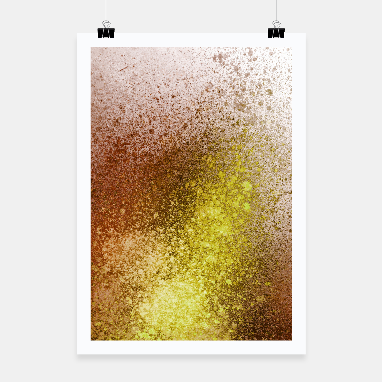 Image of Yellow Amber Spray Paint Art Poster - Live Heroes