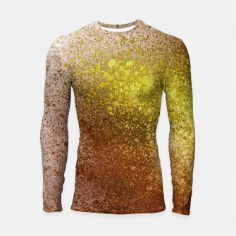 Thumbnail image of Yellow Amber Spray Paint Art Longsleeve rashguard , Live Heroes