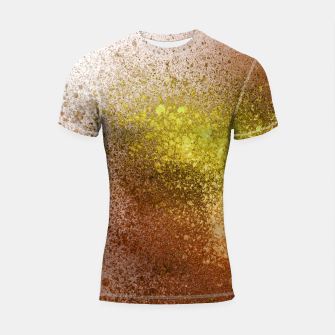 Thumbnail image of Yellow Amber Spray Paint Art Shortsleeve rashguard, Live Heroes