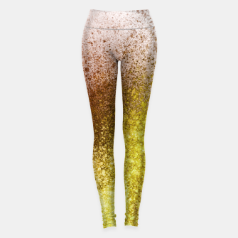 Thumbnail image of Yellow Amber Spray Paint Art Leggings, Live Heroes