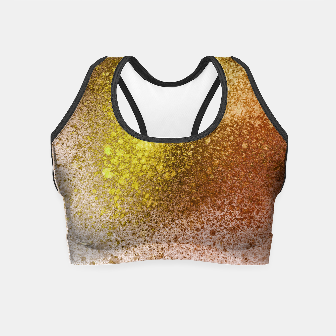 Image of Yellow Amber Spray Paint Art Crop Top - Live Heroes