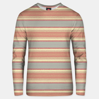 Miniaturka orange gray stripes Unisex sweater, Live Heroes