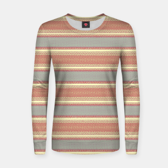 Miniaturka orange gray stripes Women sweater, Live Heroes