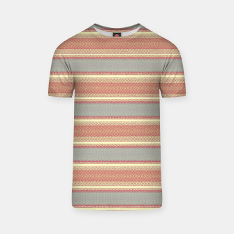 Miniaturka orange gray stripes T-shirt, Live Heroes