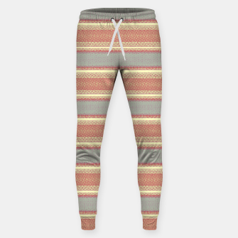 Miniaturka orange gray stripes Sweatpants, Live Heroes
