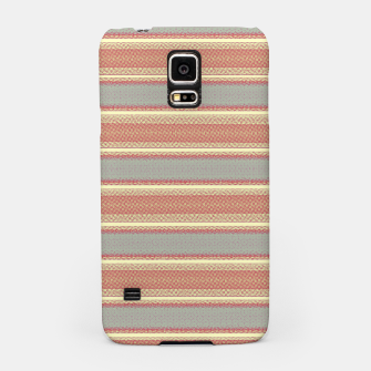 Miniaturka orange gray stripes Samsung Case, Live Heroes