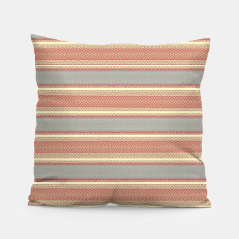 Miniaturka orange gray stripes Pillow, Live Heroes