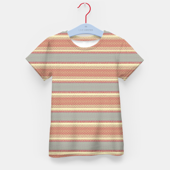Miniaturka orange gray stripes Kid's t-shirt, Live Heroes