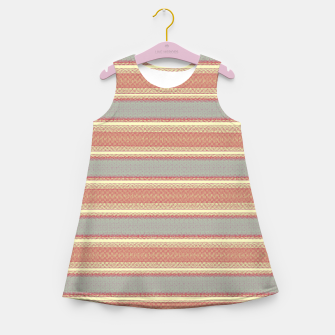 Miniaturka orange gray stripes Girl's summer dress, Live Heroes