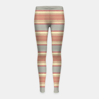 Miniaturka orange gray stripes Girl's leggings, Live Heroes