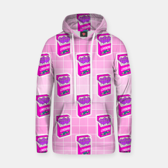 Loveboro cigarette packs pattern / girly stickers / pink grid Hoodie Bild der Miniatur