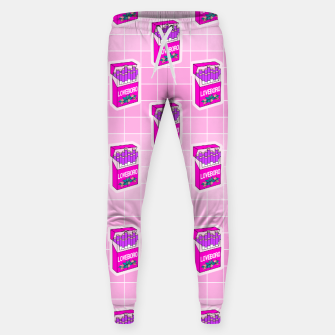 Loveboro cigarette packs pattern / girly stickers / pink grid Sweatpants Bild der Miniatur