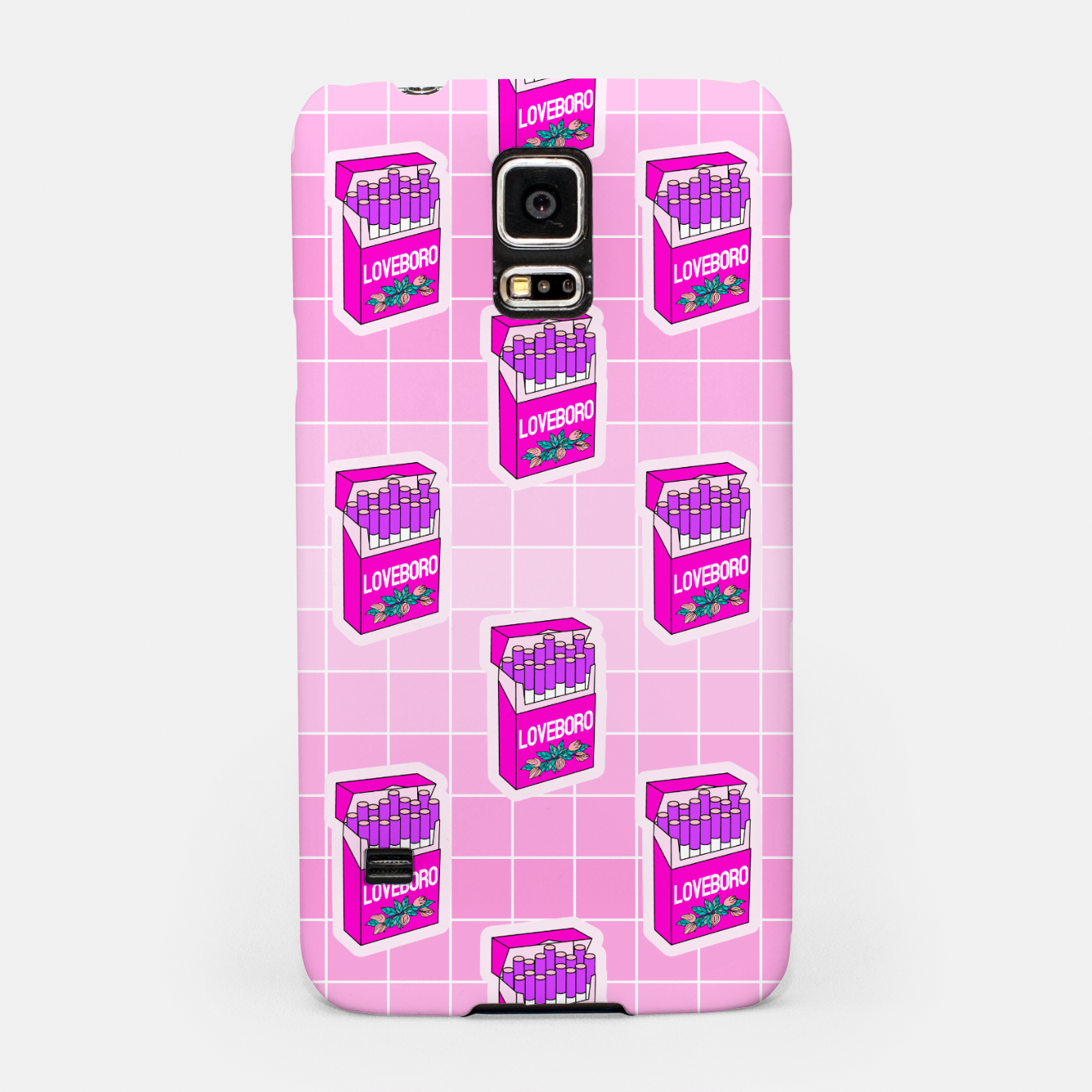 Foto Loveboro cigarette packs pattern / girly stickers / pink grid Samsung Case - Live Heroes