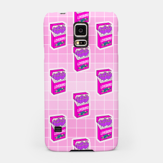 Loveboro cigarette packs pattern / girly stickers / pink grid Samsung Case Bild der Miniatur