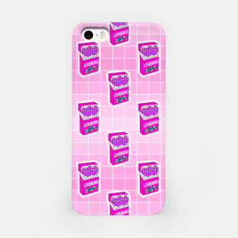 Loveboro cigarette packs pattern / girly stickers / pink grid iPhone Case Bild der Miniatur