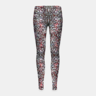 Animal Texture Girl's leggings Bild der Miniatur