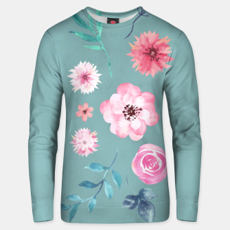 Thumbnail image of Watercolor Flowers on Limpet Shell Marble Unisex sweater, Live Heroes