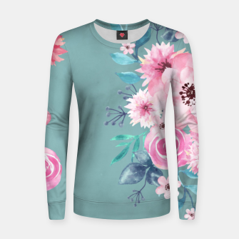 Thumbnail image of Watercolor Flowers on Limpet Shell Marble Women sweater, Live Heroes