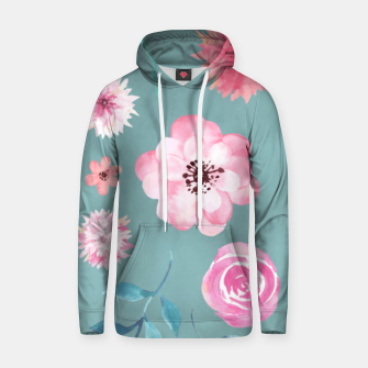 Thumbnail image of Watercolor Flowers on Limpet Shell Marble Hoodie, Live Heroes