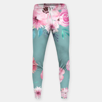 Thumbnail image of Watercolor Flowers on Limpet Shell Marble Sweatpants, Live Heroes