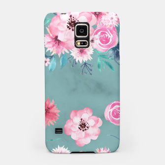 Thumbnail image of Watercolor Flowers on Limpet Shell Marble Samsung Case, Live Heroes