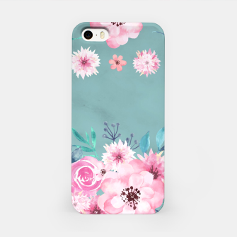 Thumbnail image of Watercolor Flowers on Limpet Shell Marble iPhone Case, Live Heroes