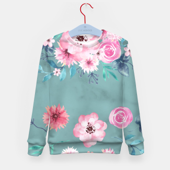 Thumbnail image of Watercolor Flowers on Limpet Shell Marble Kid's sweater, Live Heroes