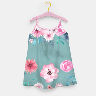 Thumbnail image of Watercolor Flowers on Limpet Shell Marble Girl's dress, Live Heroes