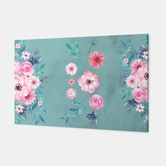 Thumbnail image of Watercolor Flowers on Limpet Shell Marble Canvas, Live Heroes