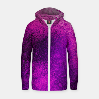 Thumbnail image of Hot Pink Fuchsia Spray Paint Art Zip up hoodie, Live Heroes