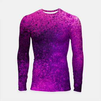 Thumbnail image of Hot Pink Fuchsia Spray Paint Art Longsleeve rashguard , Live Heroes