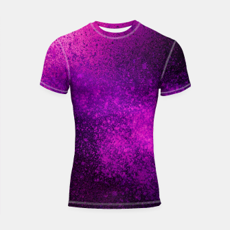 Thumbnail image of Hot Pink Fuchsia Spray Paint Art Shortsleeve rashguard, Live Heroes