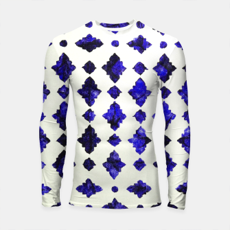 Thumbnail image of Royal Blue Traditional Moroccan Arabic Geometric Artwork Longsleeve rashguard , Live Heroes