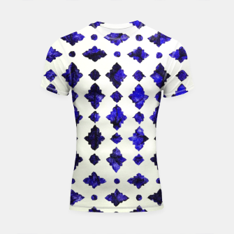 Thumbnail image of Royal Blue Traditional Moroccan Arabic Geometric Artwork Shortsleeve rashguard, Live Heroes