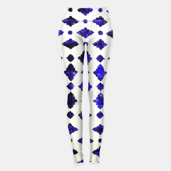 Thumbnail image of Royal Blue Traditional Moroccan Arabic Geometric Artwork Leggings, Live Heroes