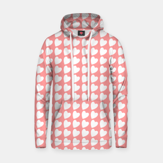 Thumbnail image of Heart Pattern on Coral Hoodie, Live Heroes