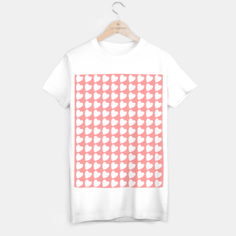 Thumbnail image of Heart Pattern on Coral T-shirt regular, Live Heroes