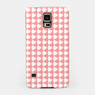 Thumbnail image of Heart Pattern on Coral Samsung Case, Live Heroes