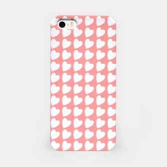 Thumbnail image of Heart Pattern on Coral iPhone Case, Live Heroes