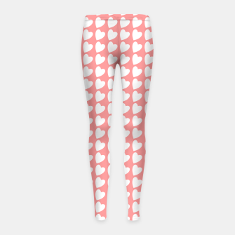 Thumbnail image of Heart Pattern on Coral Girl's leggings, Live Heroes